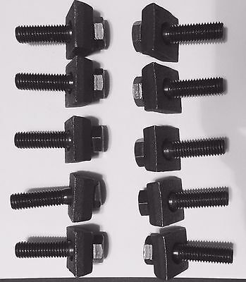 Mobile Home Axle Wheel Bolt (Course Thread) w/Rim Clamps 10 pack 2