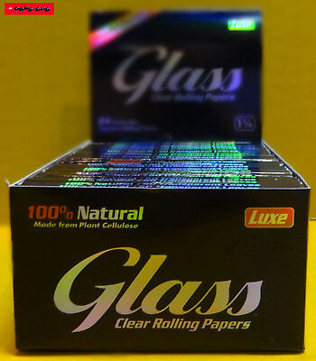 10 / 5 / 3 / 1 St. GLASS 1¼ Clear Rolling Paper, 100% BIO !! TOP PREIS !! 6