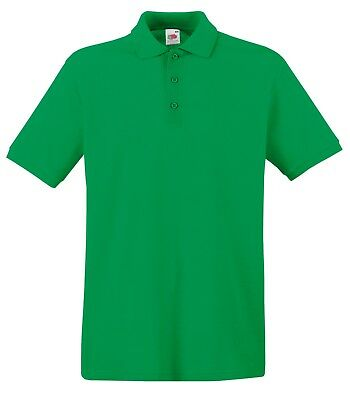 Fruit of the Loom Poloshirt Premium Polo 100% Baumwolle Shirt S M L XL XXL 3XL 9