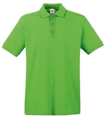 Fruit of the Loom Poloshirt Premium Polo 100% Baumwolle Shirt S M L XL XXL 3XL 8