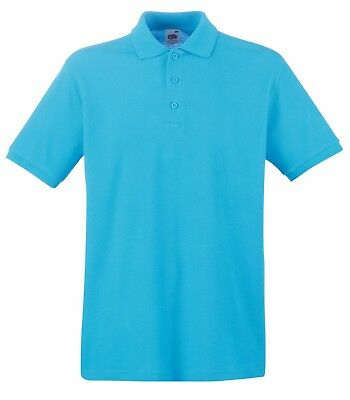 Fruit of the Loom Poloshirt Premium Polo 100% Baumwolle Shirt S M L XL XXL 3XL 3