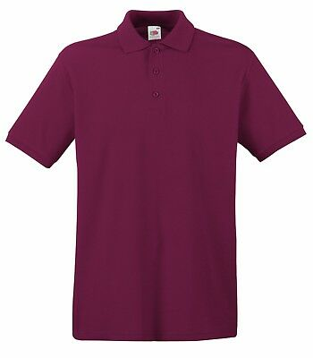 Fruit of the Loom Poloshirt Premium Polo 100% Baumwolle Shirt S M L XL XXL 3XL 4