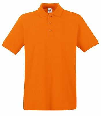 Fruit of the Loom Poloshirt Premium Polo 100% Baumwolle Shirt S M L XL XXL 3XL 11