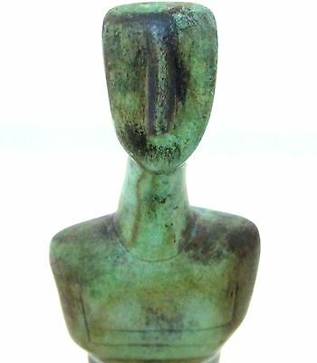Ancient Greek Bronze Museum Statue Replica Of A Cycladic Idol Figure Collectable 4