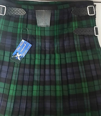 Black Watch  8 yard  Kilt ONLY Ex Hire £99 A1 Condition Large Stock But HURRY 5