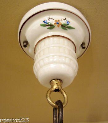 Vintage Lighting 1930s porcelain glass pendant by Porcelier   More Available 3