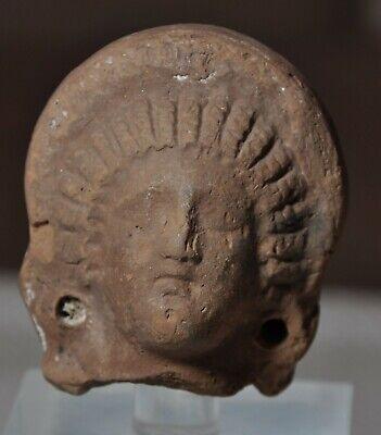 Ancient Roman-Egyptian Terracotta Female Head 1st/2nd Century AD Goddess Baubo 2