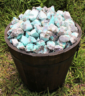 2000 Carat Lot Bulk Natural Rough Amazonite Crystal Healing Raw (400 Grams) 7