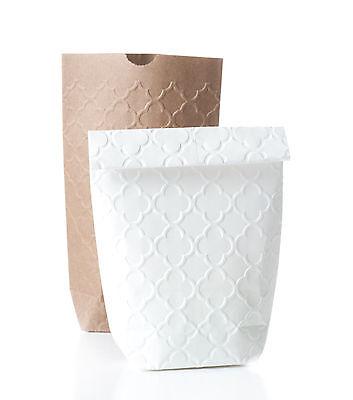 10 Geschenktüten mit PALAST Prägung Papiertüten Kraftpapier Tüten 11x17,5 cm 7