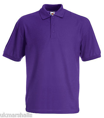 Bulk Buyer Fruit Of The Loom Polo T Shirt 14 Colours All Sizes Bn 11