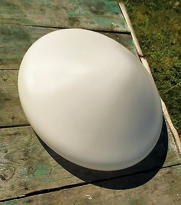 Vintage Large UFO Flying Saucer Shade Fixture Lamp White Glass Stunning 5