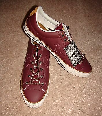 ... Men s Converse 149793C CONS STAR PLAYER OX SNEAKER Burgundy Leather Sz  7 9 12 13 2 3cfce1cab