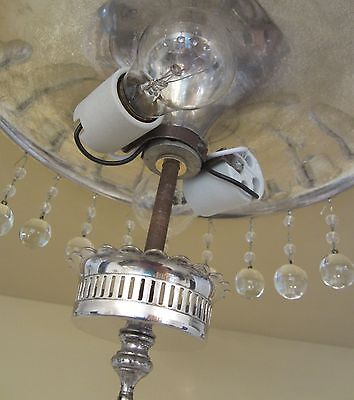 Vintage Lighting exquisite circa 1940 crystal fixture   Ideal for foyer or bath 4