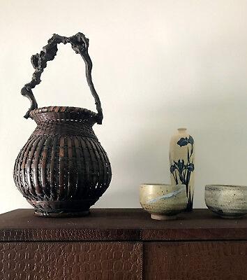 An Exceptional Japanese Bamboo Basket Ikebana from Meiji Period 12