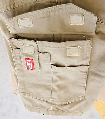 Cargo Pants Work Trousers BigBEE Elastic Band Ankle Cuff Cotton Tapered UPF 50+ 9
