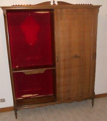 Attaccapanni Per Ingresso.Mobile Attaccapanni Ingresso Sala Soggiorno Retro Vintage Anni 60 Legno Velluto