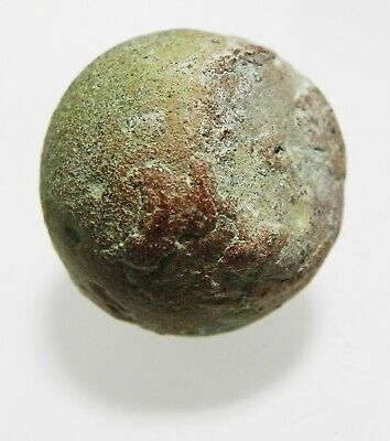 Zurqieh -As12696- Roman/Early Byzantine Silver Inlaid Bronze Weight. 400-500 A.d 5