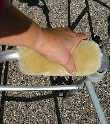 Real Merino Sheepskin WALKER Hand Grip Pads one PAIR Made in USA by JMS Products
