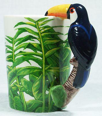 Ceramic Mug TOUCAN Bird in Rain Forest 9319844520058 RAINFTOUM Gift Box 3