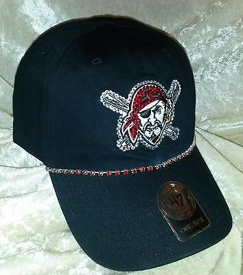 6cf5045c698537 ... Pittsburgh Pirates Women's 47 Brand Pirate Rhinestone MLB Baseball Cap  Hat ~NEW~ 2