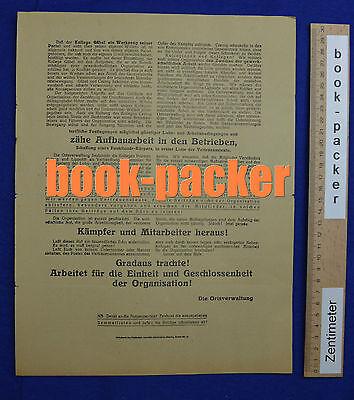 Original Flugblatt aus dem Arbeitskampf im graphischen Gewerbe Berlin 1923 [#12]