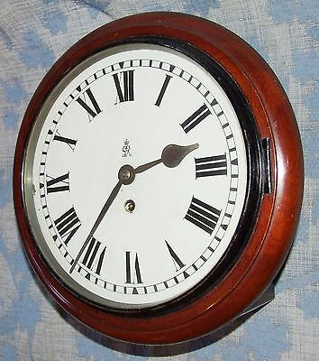 AUTHENTIC Mahogany GPO Chain Fusee Wall Clock with 10 INCH Dial 2