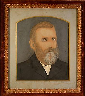 Stunning Antique Folk Art Portraits in Arts & Craft Original Frames. BEAUTIFUL! 3