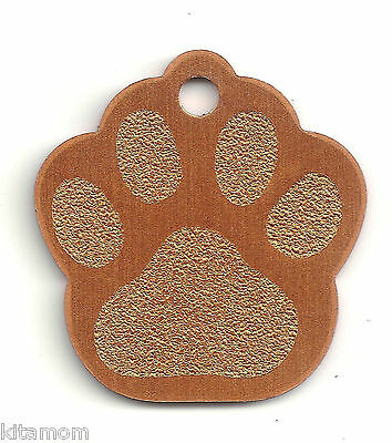 K-9 Dog Paw Animal Foot Print Pet ID Label Name Tag 8