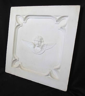 Antique Architectural Religious Italian Carved Marble Altar Angel/Cherub PANEL#2 2