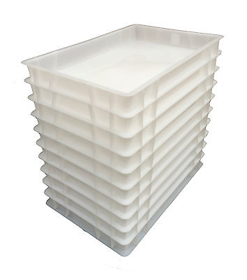 Plastic Stacking Food Grade Pizza Dough Bakery Euro Trays - Commercial Quality! 2