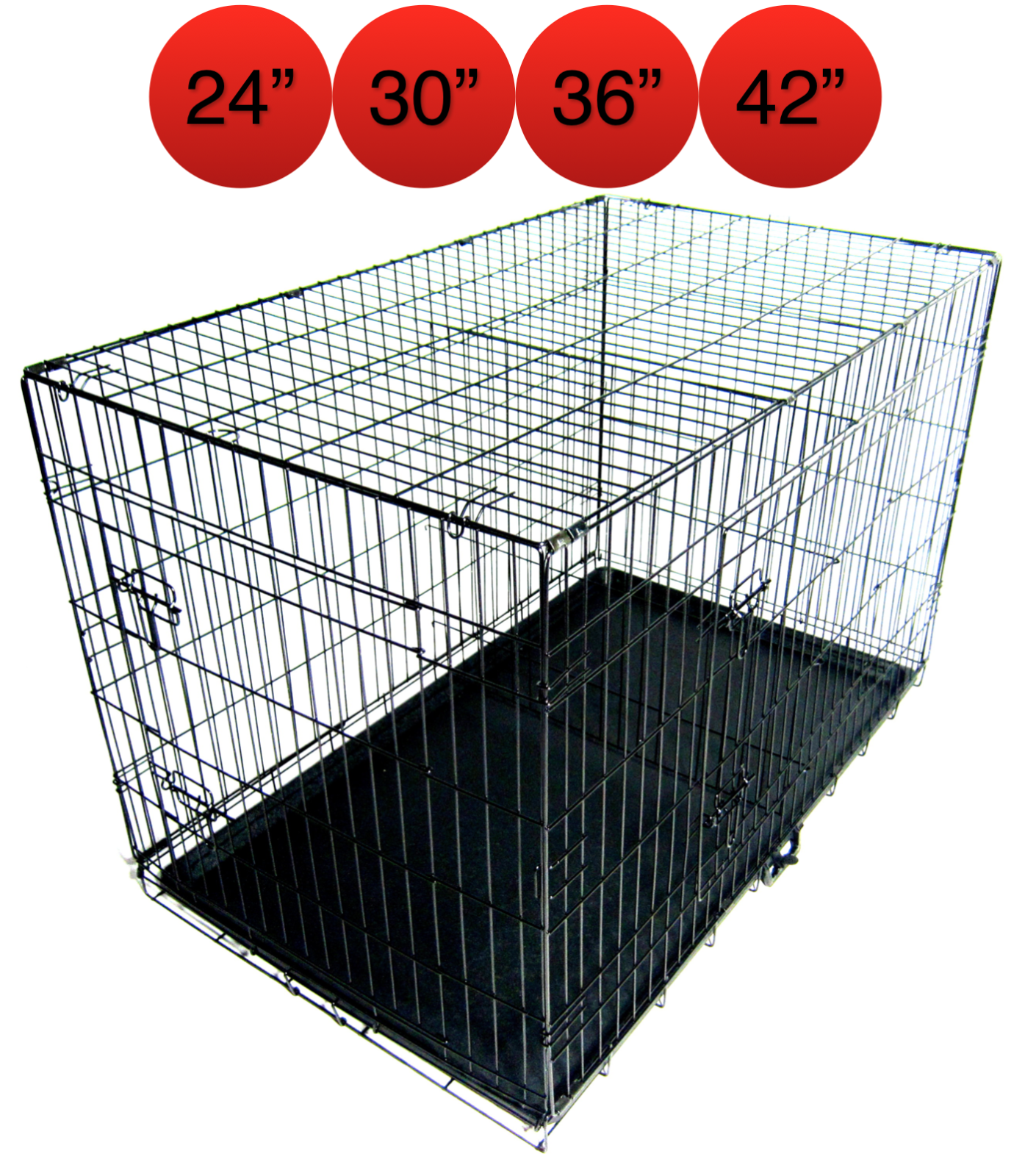 Folding Metal Dog Cage By Mr Barker Puppy Training Crates 5 sizes 24-42 Inch 3