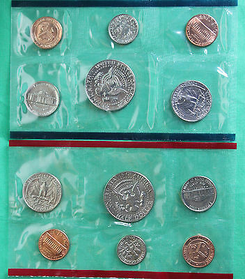 1984 US Mint Uncirculated 10 Coin Set BU Philadelphia and Denver Coins Complete 3