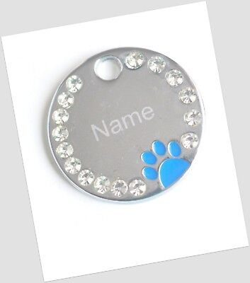 Personalised ENGRAVING Dog ID / Cat ID Name Bling Tag Puppy Pet ID Tags 3