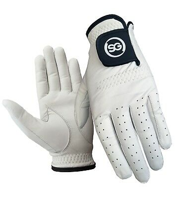 SG PACK OF 5 Men white Cabretta Leather Golf gloves Right & Left hand available 2