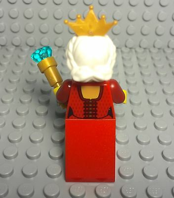 Lego New Castle Kingdoms Grandma Queen Female Mini Figure With Gold Tiara Crown