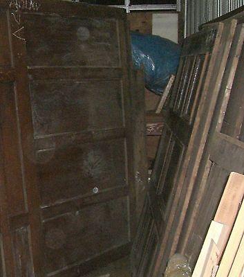 "Tiger Oak wood  Wainscot  Architectural  Antique raised  panel 77 "" X  67"" 3"