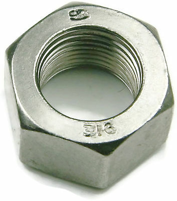 Qty 100 Stainless Steel Finished Hex Nut UNF 1//4-28