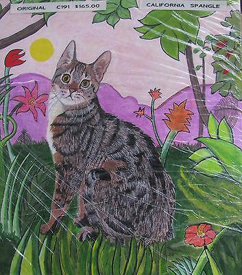 "C175   Original Acrylic Painting By Ljh        ""Pixie Bob""    Cat  Kitten 2"