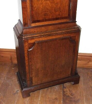 ~ Antique Oak & Mahogany Grandfather Longcase Clock BENJAMIN PEERS CHESTER 9