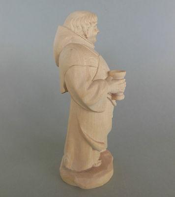 Mönch,Kellermeister ca. 17 cm hoch,Holz geschnitzt natur, Sonderpreis Farbe !! 2