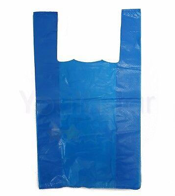 Strong Blue Large Vest Carriers Plastic Bags Shops,Takeaways,Market Stalls 100s 4