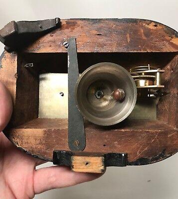 Pretty Miniature Scissor Frame Skeleton Clock With Alarm & Glass Dome Circa 1860 12