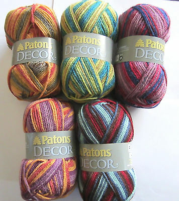 2 Of 3 Patons Decor Yarn Variegated Colors