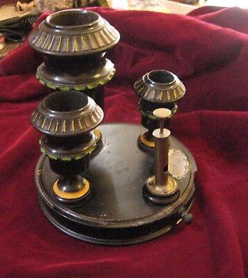 Victorian Aesthetic Movement Ebonized & Polychromed Cigar stand/set 2