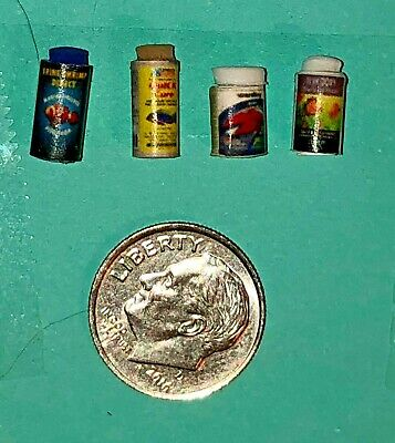 Dollhouse Miniature Frog Food Can Bottle 1:12 Toad Food Pet Pond