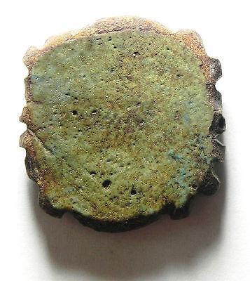 Zurqieh - Sc476- Ancient Huge Faience Eye Of Horus Amulet, 1075 - 600 B.c 3