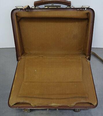 Antike Hebamme Doktor Koffertasche Koffer Arzt Leder Tasche 8