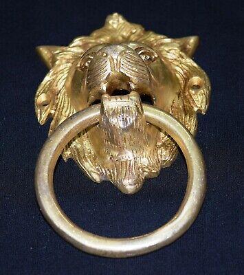Lion Head Shape Door Knocker Victorian Style Brass Home Door Knocker Door Bell 3