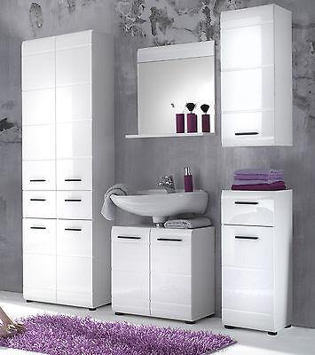 BADSCHRANK UNTERSCHRANK WEIß Hochglanz Kommode Bad Badezimmer Möbel ...