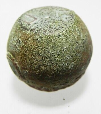Zurqieh -As12696- Roman/Early Byzantine Silver Inlaid Bronze Weight. 400-500 A.d 2